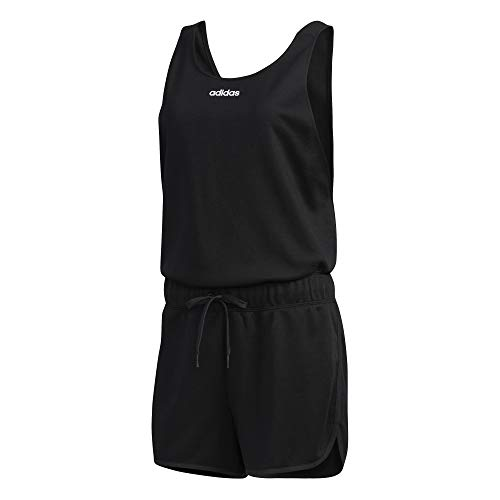 adidas W WMN Jumpsuit Anzug, Damen, Schwarz/Weiß, XS