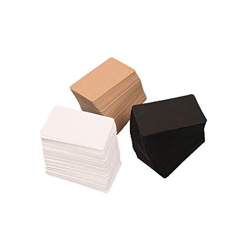 Guanici Tarjeta de visita en blanco Tarjetas de mensaje de papel Tarjetas de visita de memo para suministros de oficina en el hogar de la escuela y etiquetas de mensaje de bricolaje 300 piezas