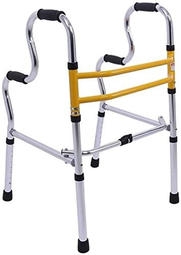 Gente altos Walker con 2 ruedas y asiento, caminante de aluminio plegable, asistencia de paso portátil para personas mayores adultos discapacitados