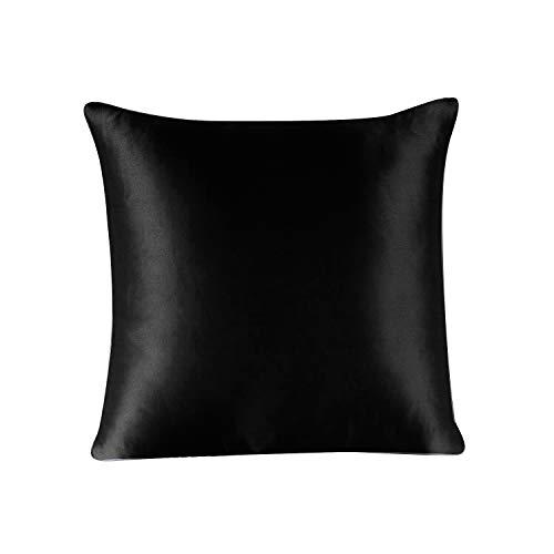 Townssilk Federa per cuscino 100% in seta da 19 mm, con cerniera nascosta, Poliestere Seta Cotone, Bianco naturale., Queen