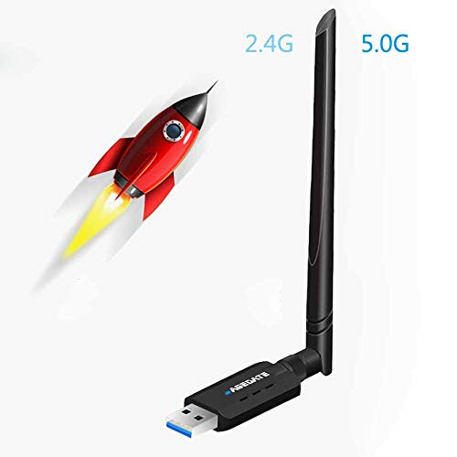 WLAN Stick WiFi Adapter WLAN Adapter PC USB 3.0 mit Thermisches Design 1200Mbit/s Dualband (5 G/867Mbps+2.4G/300Mbps) 5dBi Antenne für Windows/Mac OS/Linux/Desktop/Laptop/Notebook