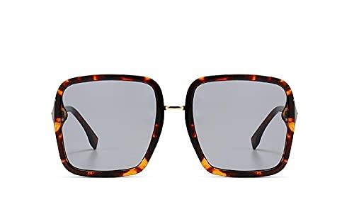 U/N Gafas de Sol cuadradas Transparentes de Moda Vintage para Mujer, Gafas de Sol de Lujo de Gran tamaño, Gafas Femeninas-5