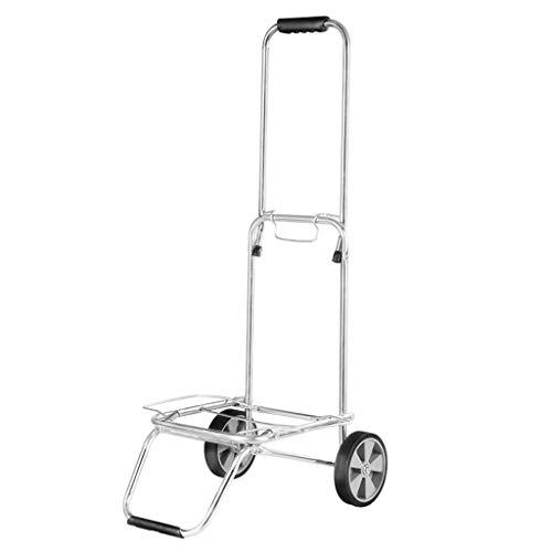 Kerryshop Carritos de la Compra Mercancías móviles Plegables de Van Luggage Que transportan el Carro a casa Ramila Rod Car Carros Utilitarios Portátiles