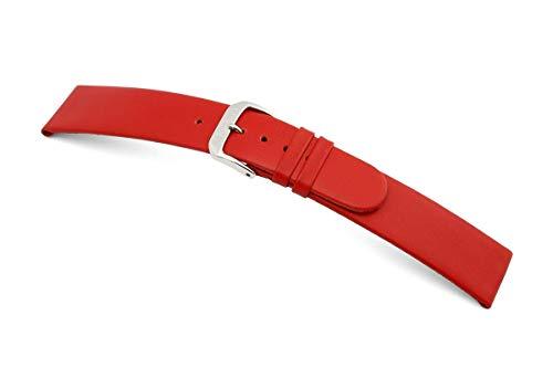 RIOS1931 Correa de reloj para hombre Classic Mod. 34 auténtica piel de vacuno, ancho 20 mm, longitud 114/82 mm, color rojo
