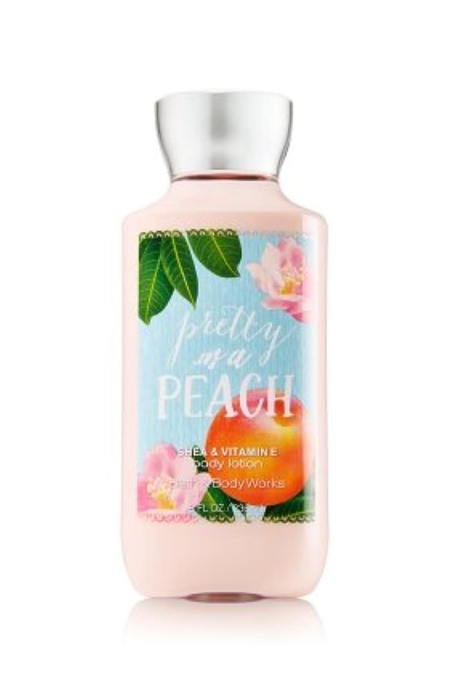 止まる決定的インポート【Bath&Body Works/バス&ボディワークス】 ボディローション プリティーアズアピーチ Body Lotion Pretty As A Peach 8 fl oz / 236 mL [並行輸入品]
