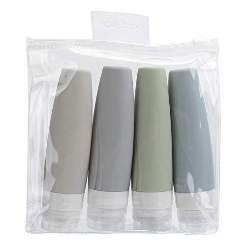 Botella dispensadora de champú de gran capacidad, silicona, incluye una práctica tapa abatible, para champú (90 ml)