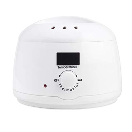 Profession chauffe-cire électrique pour l'épilation avec affichage LED, température réglable, pour les jambes, visage, corps, zone de bikini