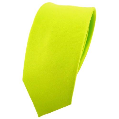TigerTie - corbata estrecha - verde neón verde verde fluorescente monocromo 100% poliéster