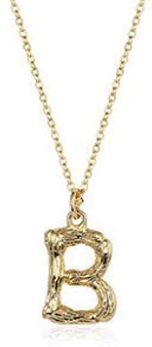 ZHIFUBA Co.,Ltd Collar Letra Light Collar Mujer Clavícula Cadena Temperamento Colgante Ornamento