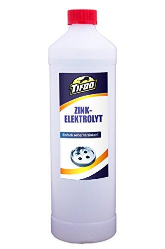 Zinkelektrolyt (1000 ml) - Selbst galvanisch verzinken, Korrosionsschutz, Zink