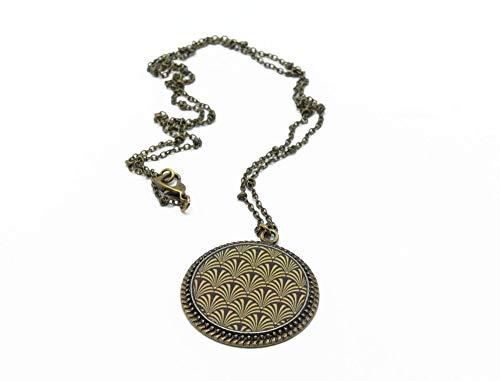 JAPÓN collar de resina latón bronce ginkgo flor de cerezo seigaiha oro negro regalos personalizados regalo de navidad novia día de la madre cumpleaños invitados de boda san valentín