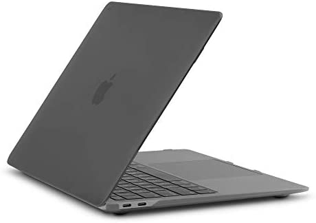 Moshi iGlaze Hardshell Case for MacBook Air 13-inch 2020-2018 (Thunderbolt 3/USB-C), MacBook Cover, Scratch Protection, Easy Installation and Removal, Good Heat Dissipation, Stealth Black