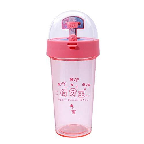 Jiangpan Botella de agua de baloncesto MVP de 500 ml para estudiantes de baloncesto divertido botella de tiro para niños y estudiantes