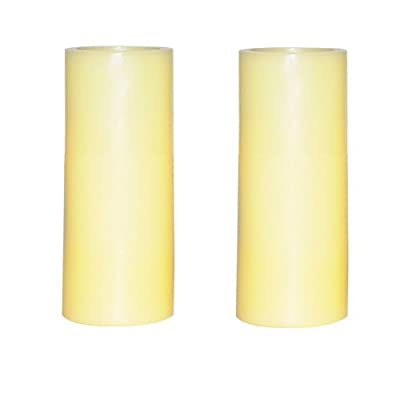 simplux Battery Powered Flameless Votive LED Pillar Candle (Pack of 2), Ivory