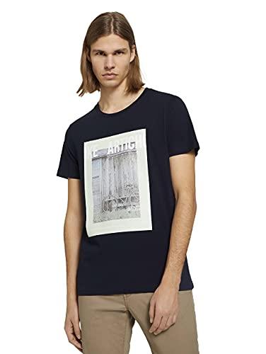 TOM TAILOR Denim 1025599 Photoprint Camiseta, Sky Captain Blue 10668-Juego de Mesa...
