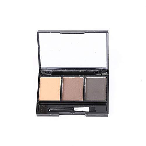 UINGKID Kit de maquillage cosmétique d'ombrage de palette de sourcil d'oeil de poudre de sourcil avec le miroir de brosse