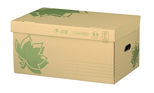 Fast Nature Line Lot de 5 Caisses à Documents en Carton 52 x 35 x 26cm Ecru