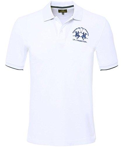 La Martina einfaches Polo Shirt Weiß L