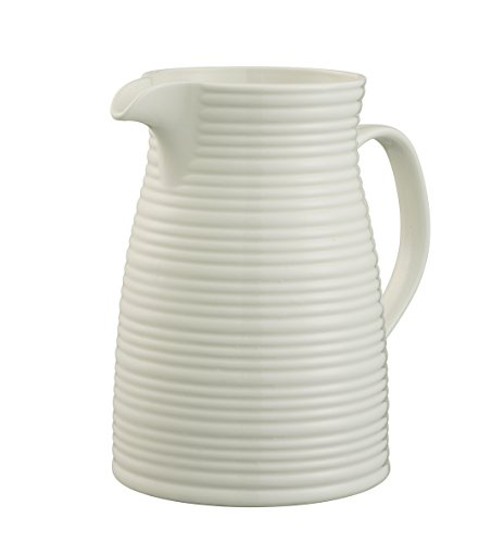Belleek Pottery Ripple Krug, weiß