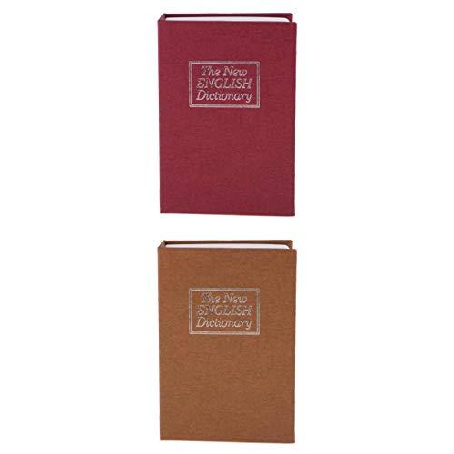 Amuzocity 2x Book Safe With Key - Diccionario Diccionario Diversion Secret