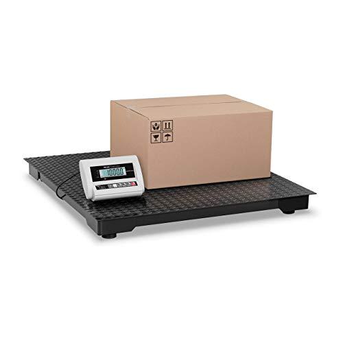 Steinberg Systems Bilancia da Pavimento Bilancia industriale con Piattaforma per Oggetti Pesanti ECO SBS-BW-1T/0.5A (1 m x 1 m, 230 V, 1000 kg, 500 g precisione)
