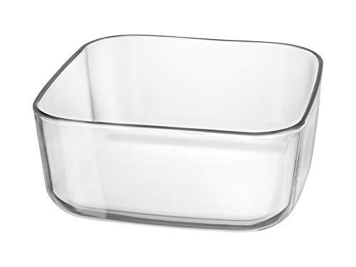 Bormioli 94091 Rocco Organize - Copa de cristal cuadrada, 22 cm