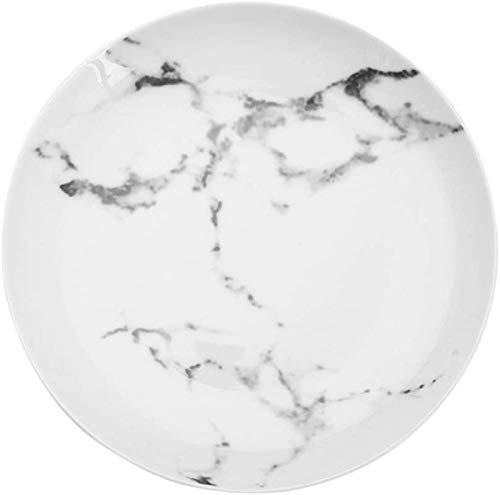 HSWYJJPFB Platos Cerámica Creativa Platos Occidentales Inicio de cerámica Sopa de arroz Placa Placa del Filete Dim Sum Plato Vajilla nórdica (Talla : 7inch)