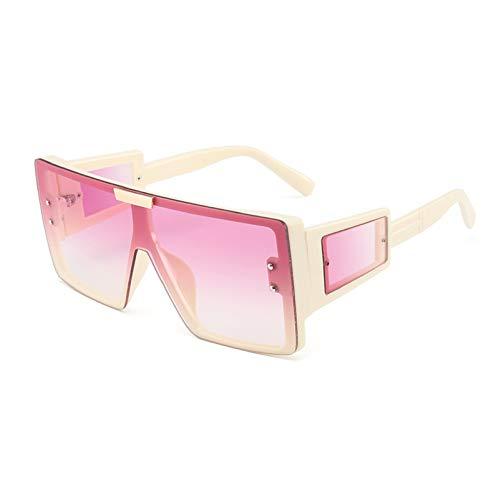 N\P Gafas De Sol De Montura Grande De Una Pieza Para Mujer Con Patillas Y Gafas De Sol Ensanchadas