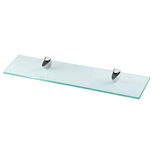 Glasregal Wandregal für Badezimmer Klarglas - Glas Regal aus 6 mm Sicherheitsglas 40x10,16x0,6cm - Glasablage Glasregalboden Badablage