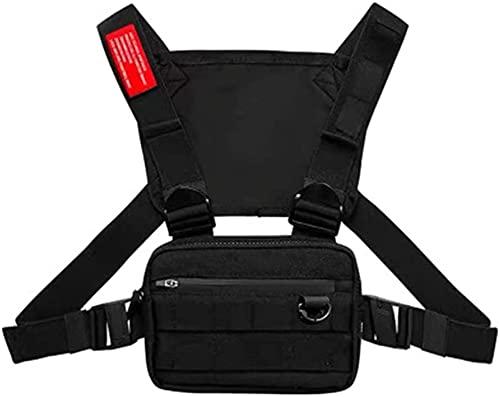 CFeng Bolsa de pecho para aparejos de pecho, multifuncional, arnés para el pecho, riñonera, bolso para el pecho y el pecho