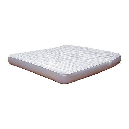CNMGB opblaasbaar luchtbed opblaasbaar bed met ingebouwde kussen, luchtmatrasbed, dubbele verhoging huishoudelijke opblaasbare matras opklapbare lunch break bed (203 × 183 × 22cm)