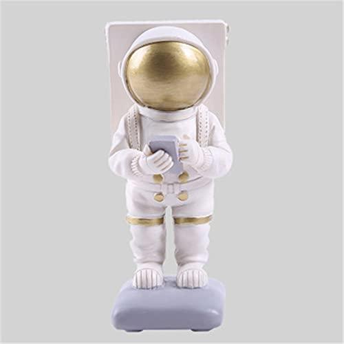 Creative Spaceman Astronautas Adornos Teléfono Móvil Soporte de Resina Artesanía Estudio Decoraciones