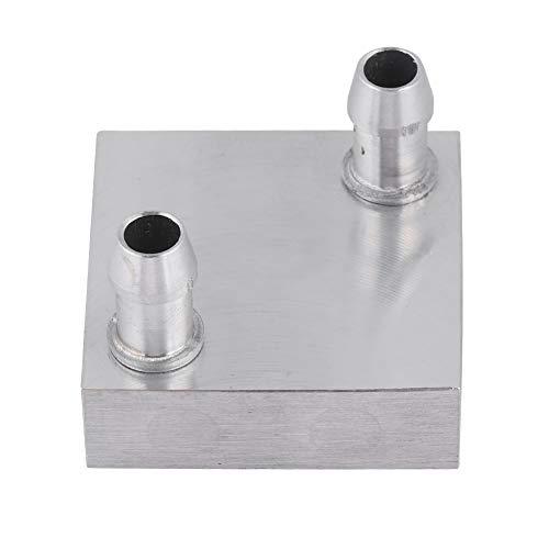 Water Koeling Hoofd - 40x40mm Waterkoeling Aluminium Blok voor CPU Radiator Vloeibaar Water Koelvloeistof Koeler Ef