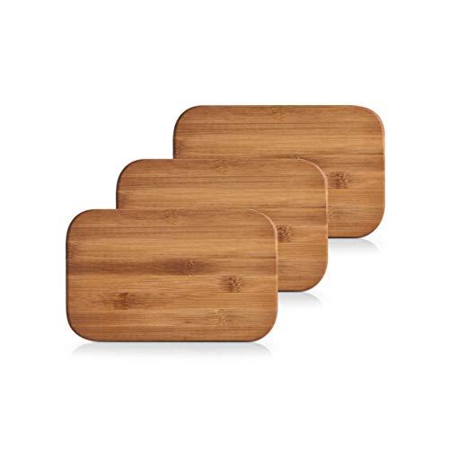 Zeller 25260 Set de 3 planches à découper 22 x 14 x 0,8 cm (Bambou)