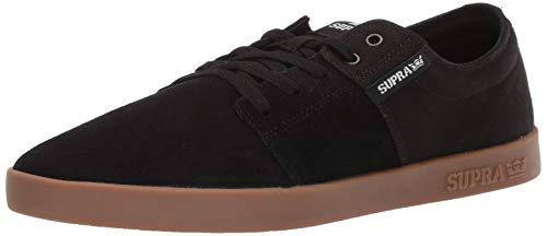 Supra Unisex-Adult Stacks II Skate Shoe, Black-Gum, 8