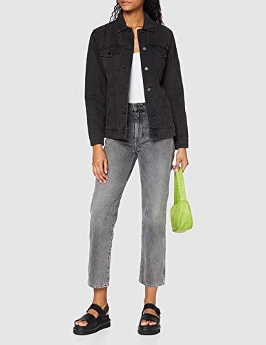 Noisy May Nmole L/s Denim Jacket Noos Chaqueta Vaquera, Negro (Black Black), 42 (Talla del Fabricante: Large) para Mujer