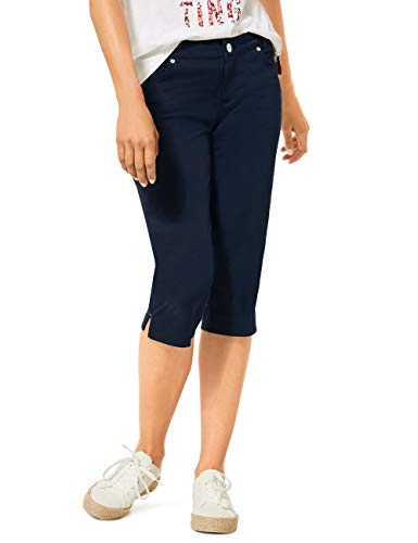 Street One Damen 373310 Yulius Capri Casual Fit Hose, deep Blue, W36/L18