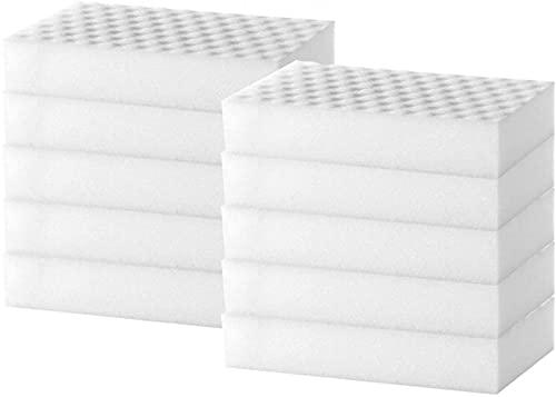 EFEG Magic Cleaning Sponges Eraser, Multi-Functional Premium Nano Ponge Foam Cleaning Pads, Multi Surface Power Scrubber Foam Cleaning Pads -Bathtub, Floor, Baseboard, Bathroom, Wall Cleaner (20PCAK)