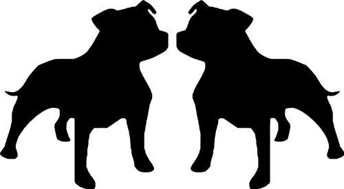 Staffy Staffordshire Bull Terrier Stickers pour voiture, Van ou vélo SBD11