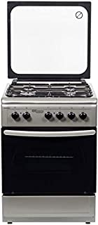 Super General 60 X 60 cm 4 Burner Gas cooker, Silver - SGC 6470MSFS
