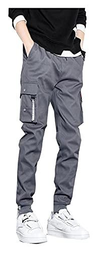 DOUYUAN Pantalón Cargo de Punk Pant Pantalones de Carga Pantalones Militares tácticos al Aire Libre Casual Pantalones de Sudor Sueltos Hombres Pantalones de algodón Grande Tamaño Grande