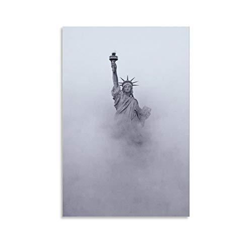KEMS Kunstdruck auf Leinwand, Motiv: Freiheitsstatue in Liebe, 40 x 60 cm