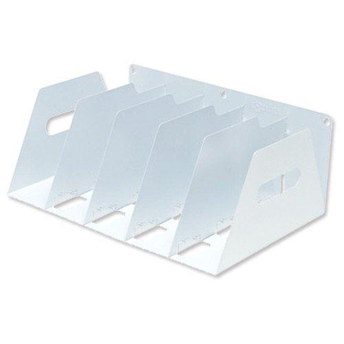 Rotadex - Soporte para archivadores de metal (425 x 300 x 160 mm), color blanco