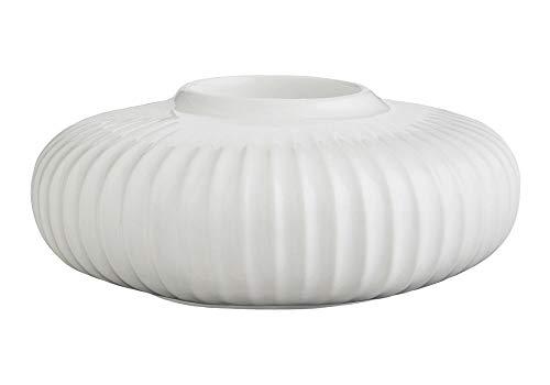 Kähler Hammershoi Teelichthalter, Porzellan, weiß, 13cm