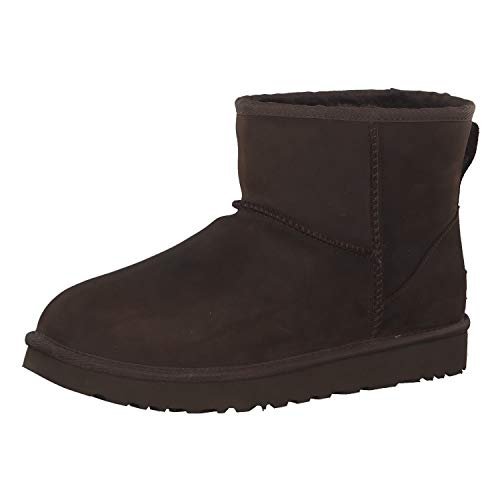 UGG Women's Classic Mini Leather Stiefel, Chocolate, 40 EU