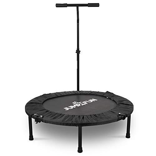 Jump4fun - Minitrampolín para fitness con barra en forma de T, plegable