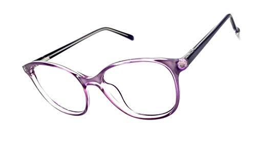 Armação Óculos Feminino Geek Redondo Lentes Sem Grau Yf-8026