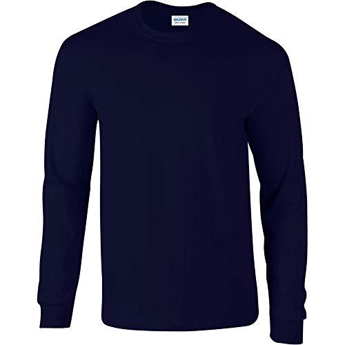 Gildan - T-Shirt à manches longues - Homme bleu bleu marine Extra Grande (XL)