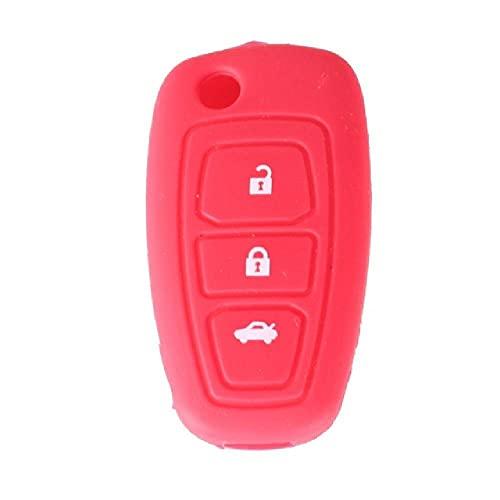 TGBV3 botón de Repuesto para Llave remota de Coche, Funda de Silicona para Ford Fiesta Focus Mendeo, Funda de Titanio para Llave de Coche