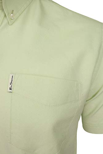 Ben Sherman Mens Oxford Shirt - Short Sleeved (Light Green) L